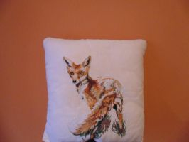 My embroidered Fox by Kotominekirei12