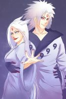 Kaguya and Madara by GERSHVIN