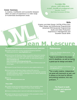 My New Resume CV by JeanLescure