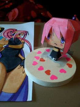 Chibi Papercraft of my OC Tempest by Seriina06