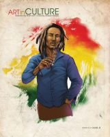 Bob Marley colors Culture Magazine by Scott-Lost