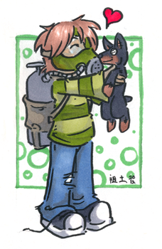 hazard and a puppay by not-fun
