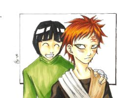Gaara and Lee by imabubble
