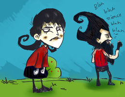 Don't Starve Together with Willow and Wilson by LuckyGreen7
