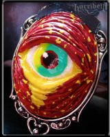 RED Zombie Eye Necklace by Horribell-Originals