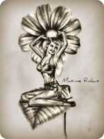 Own Design Pin-Up Tattoo by maximerokus