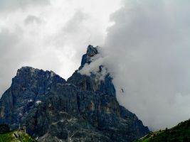Clouds on Cimon della Pala by edelweiss26