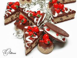 Berries in chocolate 3 by OrionaJewelry