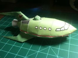 Planet Express Ship Papercraft by Dreamparacite