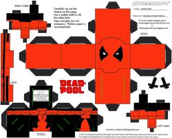 Marvel10: Deadpool Cubee by TheFlyingDachshund