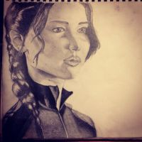 Katniss Everdeen from The Hunger Games by Elektrafying