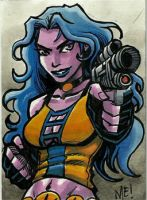 Delilah Blue ACEO sketch card by MasonEasley