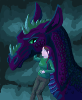 Dragon and pregnant lady by femalefred