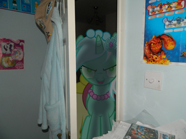 Possessed Lyra in my house by Blackrhinoranger