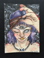 1st Third Eye Goddess ACEO by brittkay