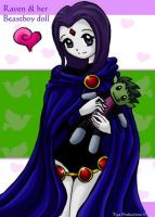 Raven + doll by strawberrytiga by teentitans