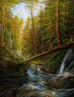 Study of a mountain stream by andrekosslick