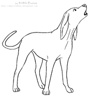 Lineart - Coonhound by ANBU-Flashez