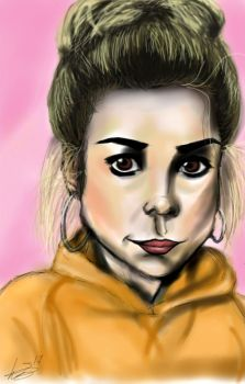 Pink and yellow - Rose Tyler. by Laurenthebumblebee