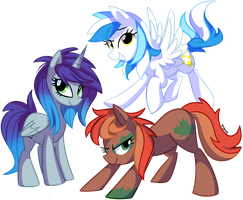 Nova, Autumn and Crystal by pepooni