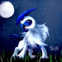 Absol -Doodle- by YamaBerryCZ
