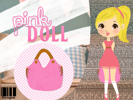 Pink Doll .png .psd by iRouges