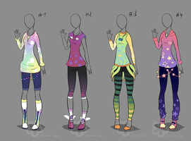 Color-Outfit Adopts - sold by Nahemii-san