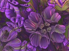 Purple Posies by recycledrelatives