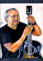 Mark Knopfler and his guitar by lilie1111