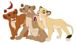 Lionesses for ShockAdopt by kisini
