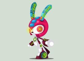 Robot Bunny by vancamelot
