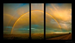 Double Rainbow Triptych by Handie
