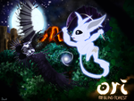 Ori and the Blind Forest fanart - Escaping Kuro by skodadav