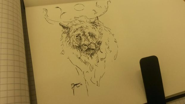 INKTOBER day 19 : The king by JeanTaty