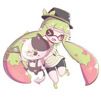 Chibi Inkling Girl by Pokkiu