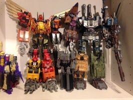 Decepticon Combiners Bruticus and Predaking by forever-at-peace