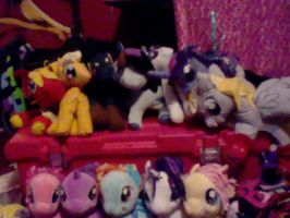 my little pony plushies by mistresscarrie