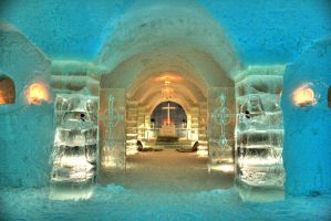 Ice Hotel  Ice Church HDR - Alta 2012 by evrengunturkun
