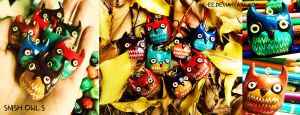 Snish Owl Phone Charms by T-EE