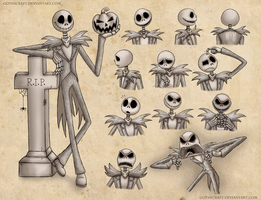Jack Skellington sketches by Gothicraft