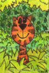 Happy Tiger ATC 01 by Quaddles-Roost
