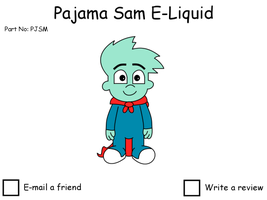 Pajama Sam E-Liquid popup by dev-catscratch