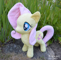 Fluttershy plush by PinkuArt