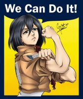 Mikasa the Riveter by GeistMaus