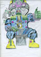 conqueror armored suit...gearing up! by warblaster