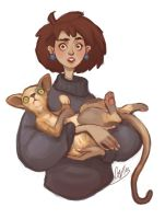 Cat lady by CrazySharly