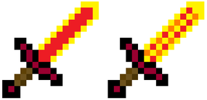 Minecraft Blaze Swords V2 by DBZ2010
