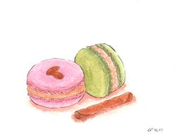 Macarons w/Almonds and a Cinnamon Stick by Lil-Guppy