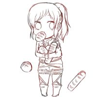 sasha brause chibi sketch (unfinished) by Lori849