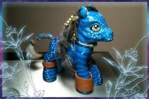 MLP Neytiri Custom by StephanieCassataArt